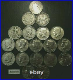 1837-2020 Half Dollar Type Set Seated Liberty Barber Commemorative Silver AG-AU
