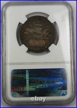 1892 PROOF Columbian Commemorative Half Dollar NGC PF-64 Toned