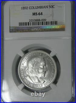 1892 S50C Columbian-Exposition Commemorative-Half-Dollar NGC MS-64 High-Grades