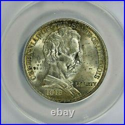 1918 ANACS MS64 Classic Commemorative Lincoln Half Dollar