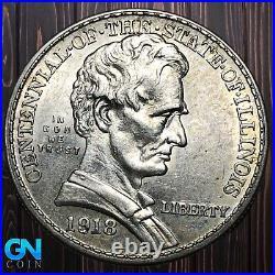 1918 Lincoln Illinois Commemorative Half Dollar - MAKE US AN OFFER! #K6422