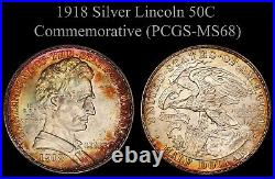 1918 Lincoln Silver Commemorative Half Dollar PCGS MS68 ONLY 2 GRADED HIGHER