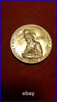 1920 Pilgrim Commemorative Half Dollar, Lustrous Gem B++