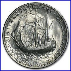 1920 Pilgrim Tercentenary Half Dollar AU SKU #30272