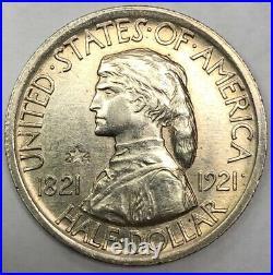 1921 Missouri 2x4 Commemorative Half Dollar Choice Unc Light Hairlines In Field