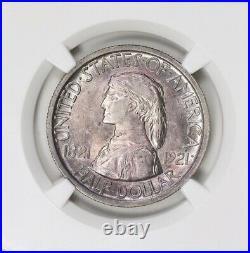 1921 Missouri Centennial Silver Half Dollar NGC MS-64 Purple Toned