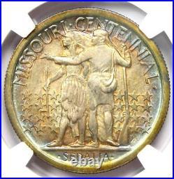 1921 Missouri Half Dollar 50C Coin Certified NGC Uncirculated Details (UNC MS)