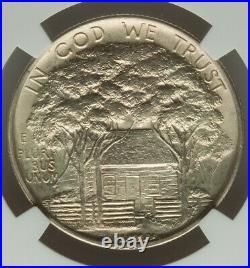 1922 50C Grant Memorial Half Dollar No Star NGC Near GEM MS64 FINE LUSTER COLOR