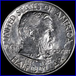1922 Grant Star Commem Half Dollar Nice BU Details Blast White Nice Eye Appeal