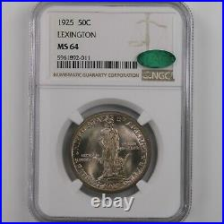 1925 Lexington 50C NGC CAC Certified MS64 Silver Half Dollar Commemorative