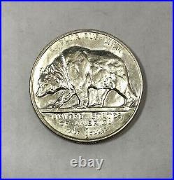 1925 S California Bear Silver Commemorative Half Dollar About Uncirculated