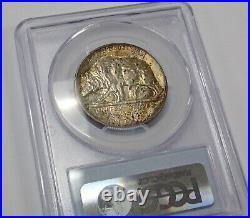 1925-S California Diamond Jubilee 50c Half Dollar PCGS CAC MS64 Rainbow Toned