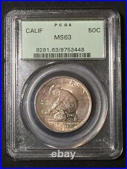 1925-S California Diamond Jubilee Commemorative Half Dollar MS63 PCGS MS 63 50C