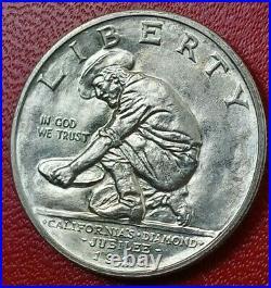 1925-S California Silver Commemorative Half Dollar in BU Condition