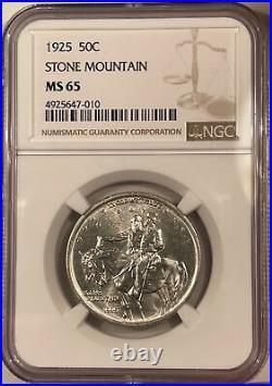 1925 Stone Mountain Commemorative Half Dollar Ngc Ms-65