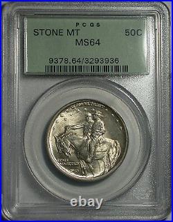 1925 Stone Mountain Commemorative Half Dollar PCGS Gem BU MS-64 So Flashy, Nice