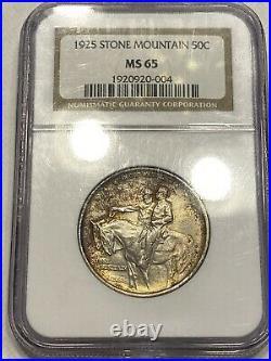 1925 Stone Mountain MS-65 NGC Certified Silver Half Dollar NICE GEM Memorial 50