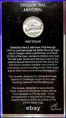 1926 Oregon Trail Commemorative Half Dollar In Cool Old Time Historical Holder