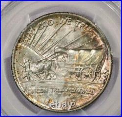 1926-S 1926 Oregon silver Commemorative half dollar 50c PCGS MS66 Pretty