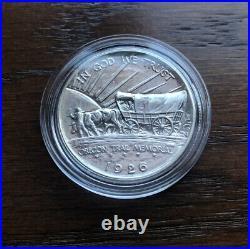 1926-S Oregon Trail Commemorative Silver Half Dollar. BU CONDITION