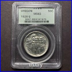 1926 S Oregon Trail Half Dollar 50c PCGS MS63 OGH Old Commemorative Gem