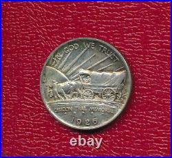 1926-s Oregon Trail Commemorative Silver Half Dollar Lightly Circulated