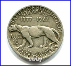 1927 VERMONT SESQUICENTENNIAL SILVER HALF DOLLAR Battle of Bennington
