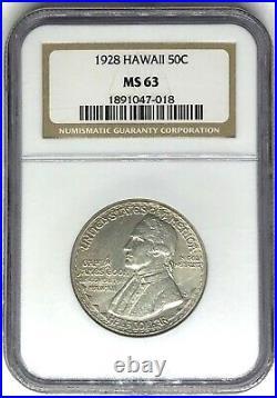 1928 Hawaii Commemorative Half Dollar NGC MS63 Hawaiian 50c (1891047-018)