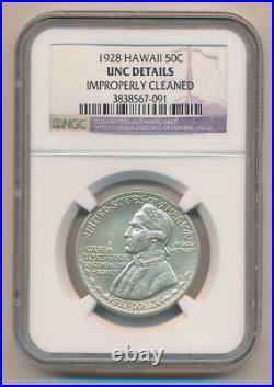 1928 Hawaii Commemorative Half Dollar. NGC Unc Details
