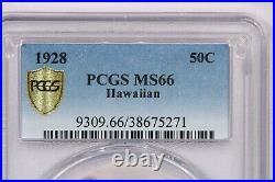 1928 Hawaiian Half Dollar 50c PCGS MS66 Beautifully toned, rare with nice color