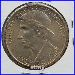 1934 Daniel Boone Commemorative Silver Half Dollar 50c Coin CH/GEM BU Nice Toner
