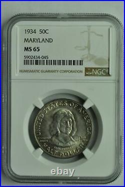 1934 Maryland Commemorative Half Dollar NGC MS65