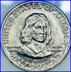 1934 Maryland Commemorative Silver Half Dollar NGC Mint State 64- MS-64
