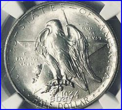 1934 Texas Silver Commemorative Half Dollar NGC MS-66 Mint State 66
