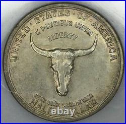 1935 50C Spanish Trail Commemorative Silver Half Dollar UNC
