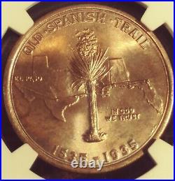 1935 50c Spanish Trail Commemorative Half Dollar NGC MS65 Stunning Tone