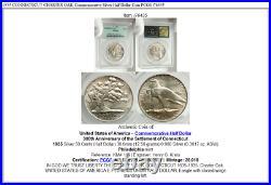 1935 CONNECTICUT CHARTER OAK Commemorative Silver Half Dollar Coin PCGS i76435