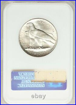 1935 CONNECTICUT NGC MS-65 CAC Silver Classic Commemorative WHITE dsx