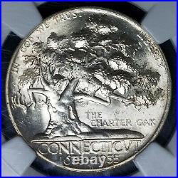 1935 Connecticut Commemorative Half Dollar NGC MS65