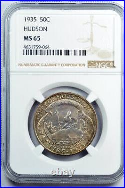 1935 Hudson 50c Commemorative Half Dollar NGC MS65