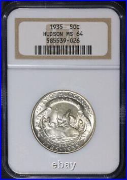 1935 Hudson Commem Half Dollar NGC MS64 Nice Eye Appeal Nice Strike