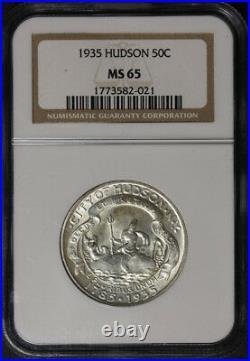 1935 Hudson Commem Half Dollar NGC MS65 Great Eye Appeal Nice Strike
