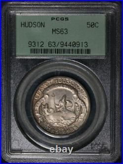 1935 Hudson Commem Half Dollar OGH PCGS MS63 Nice Eye Appeal Nice Strike