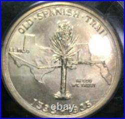 1935 Old Green PCGS Rattler MS64 Spanish Trails Commemorative Half Dollar