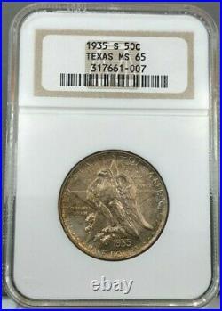 1935-S 50c Texas Commemorative Half Dollar NGC MS65
