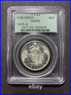 1935 S San Diego Half Dollar 50c PCGS MS65 OGH Old Commemorative Gem