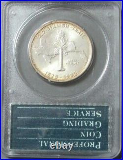 1935 Silver Generation 1 Pcgs Ms 64 Old Spanish Trail Commem Half Dollar Coin