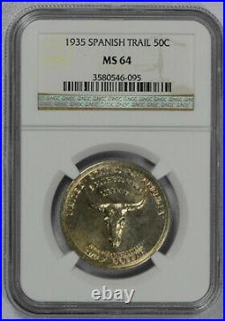 1935 Spanish Trail 50C NGC MS64 Commemorative Half Dollar Nice coin