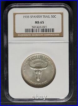 1935 Spanish Trail Commemorative Half Dollar, NGC MS65