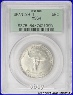 1935 Spanish Trail Half Dollar Commemorative PCGS MS64 Frosty White